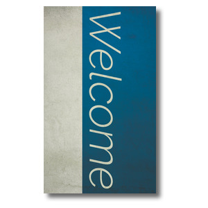 Color Block Welcome 3 x 5 Vinyl Banner