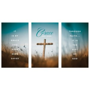 Grace Has a Name 3 x 5 Vinyl Banner