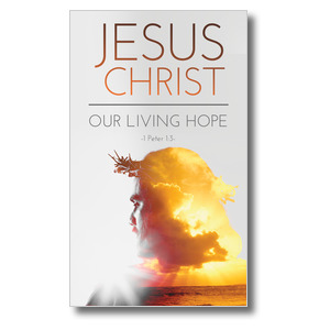Jesus Christ Living Hope 3 x 5 Vinyl Banner