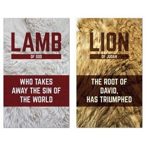 Lamb and Lion Pair Banners