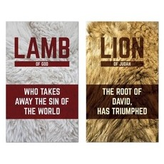 Lamb and Lion Pair Banner