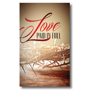 Love Paid in Full 3 x 5 Vinyl Banner