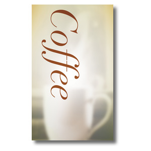 Traditions Coffee 3 x 5 Vinyl Banner