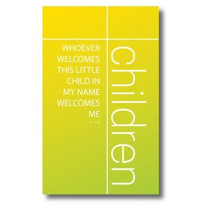 Color Wash Children 3 x 5 Vinyl Banner