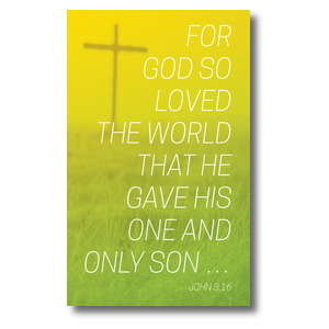 Color Wash John 3:16 3 x 5 Vinyl Banner