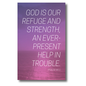 Color Wash Psalm 46:1 3 x 5 Vinyl Banner