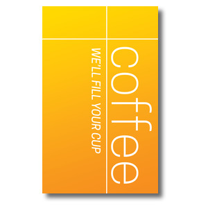 Color Wash Coffee 3 x 5 Vinyl Banner
