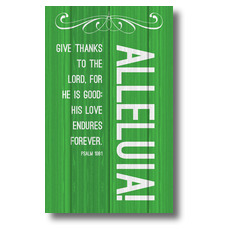 Painted Wood Alleluia Banner