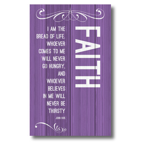 Painted Wood Faith 3 x 5 Vinyl Banner