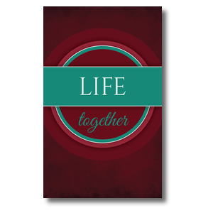 Together Circles Life 3 x 5 Vinyl Banner
