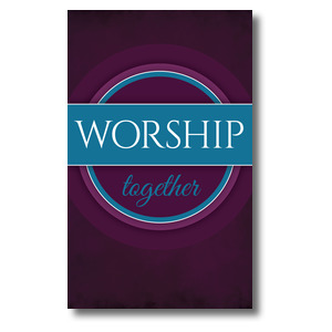 Together Circles Worship 3 x 5 Vinyl Banner