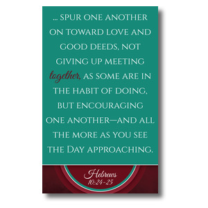 Together Circles Heb 10 3 x 5 Vinyl Banner