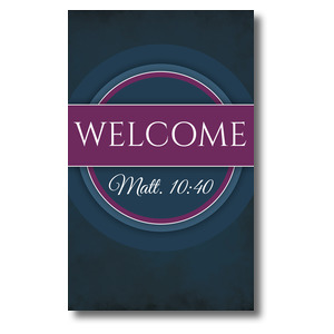 Together Circles Welcome 3 x 5 Vinyl Banner