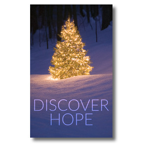 Discover Hope Bright Tree 3 x 5 Vinyl Banner