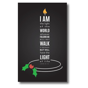 Light of the World Candle 3 x 5 Vinyl Banner