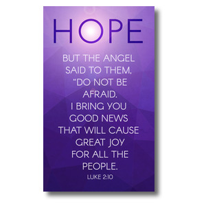 Advent Luke 2 Hope 3 x 5 Vinyl Banner