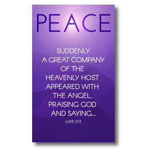 Advent Luke 2 Peace 3 x 5 Vinyl Banner