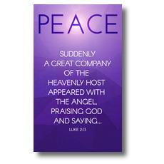 Advent Luke 2 Peace Banner