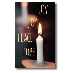 Candle Advent Words 3 x 5 Vinyl Banner