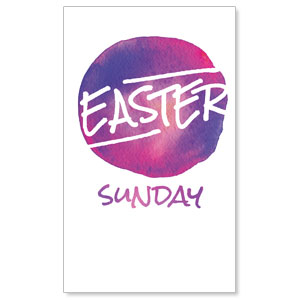 Watercolor Circle Easter 3 x 5 Vinyl Banner
