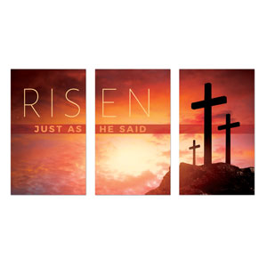 Risen Crosses Triptych Banners