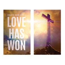 Love Has Won Pair Banner