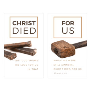 Died For Us Rom 5:8 3 x 5 Vinyl Banner
