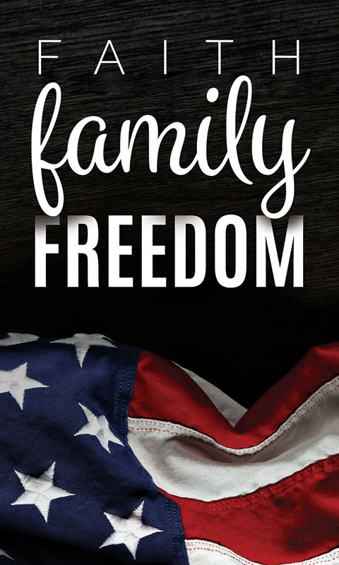 Faith Family Freedom Banner Church Banners Outreach
