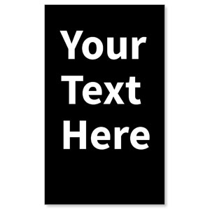Your Text Here White 3 x 5 Vinyl Banner