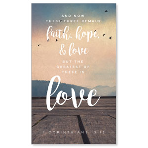 Photo Scriptures 1 Cor 13:13 3 x 5 Vinyl Banner