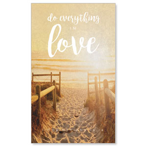 Photo Scriptures 1 Cor 16:14 3 x 5 Vinyl Banner