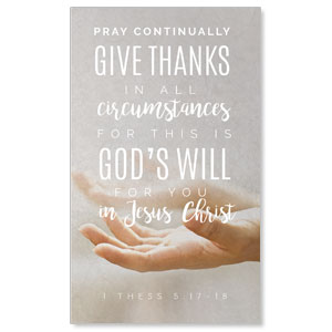 Photo Scriptures 1 Thes 5:17 3 x 5 Vinyl Banner