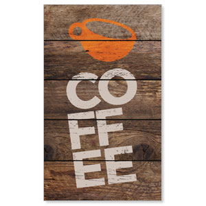 Shiplap Coffee Natural 3 x 5 Vinyl Banner