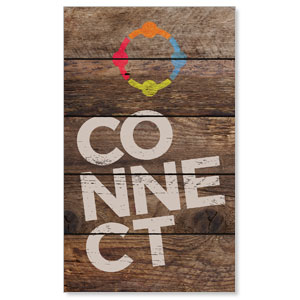 Shiplap Connect Natural 3 x 5 Vinyl Banner