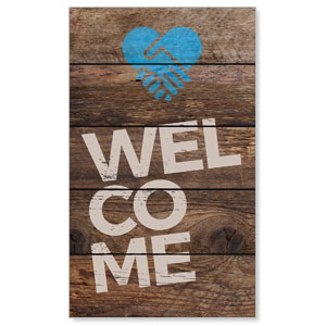 Shiplap Welcome Natural 3 x 5 Vinyl Banner