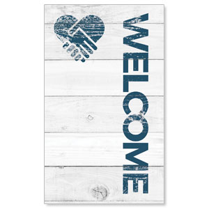 Shiplap Welcome White 3 x 5 Vinyl Banner