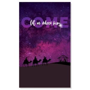 Come Let Us Adore 3 x 5 Vinyl Banner