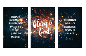 Glory to God Stars 3 x 5 Vinyl Banner