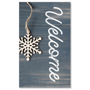 Wood Ornaments Welcome 3 x 5 Vinyl Banner