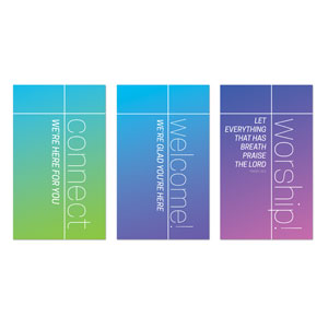 Color Wash Core Set 3 x 5 Vinyl Banner