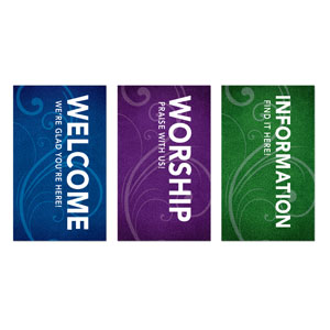 Flourish Core Set 3 x 5 Vinyl Banner
