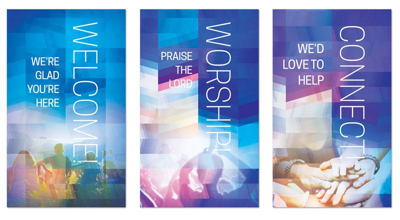 Modern Mosaic Core Set Banner Church Banners Outreach