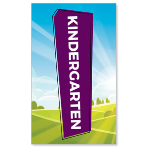 Bright Meadow Kindergarten 3 x 5 Vinyl Banner