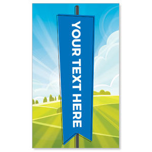 Bright Meadow Your Text Here 3 x 5 Vinyl Banner
