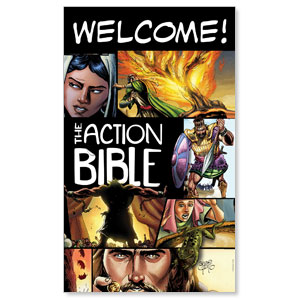 The Action Bible 3 x 5 Vinyl Banner