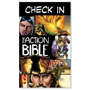 The Action Bible Check In 3 x 5 Vinyl Banner