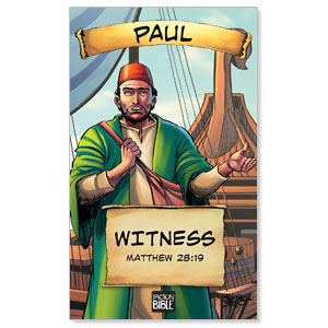 The Action Bible VBS Paul 3 x 5 Vinyl Banner