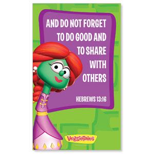 VeggieTales Heb 13:16 Banner - Church Banners - Outreach