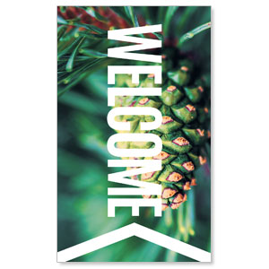 Chevron Welcome Winter 3 x 5 Vinyl Banner