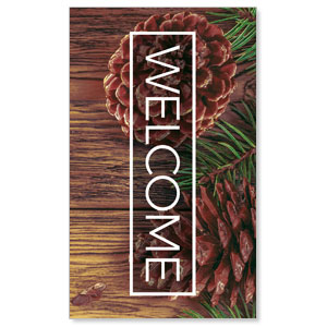 Wooden Slats Winter 3 x 5 Vinyl Banner
